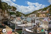 im Hafen von Cala Figuera