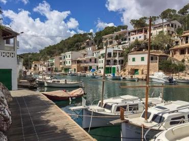 im Hafen von Cala Figuera (Handyaufnahme)